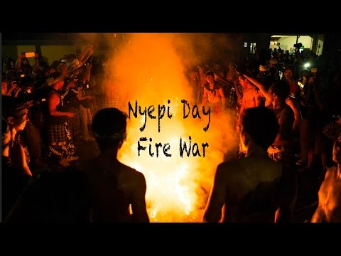 Nyepi Day Bali - Crazy fire war tradition