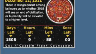 December 21, 2012 Mayan Prophecy Date Countdown