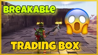 NEW Breakable Trading Box Scam! Scammer Gets Scammed!Fortnite Save The World!