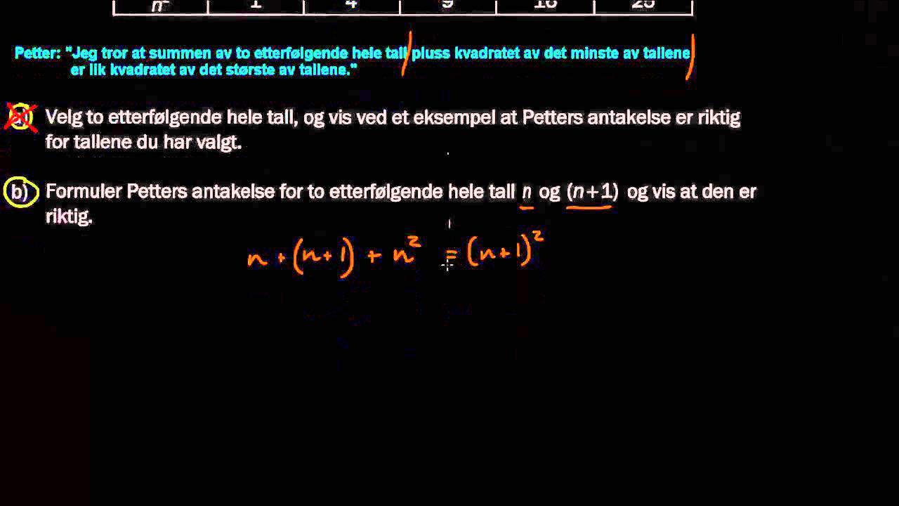 5b - Algebra i tekst - 1T Eksamen H2012, Del 2