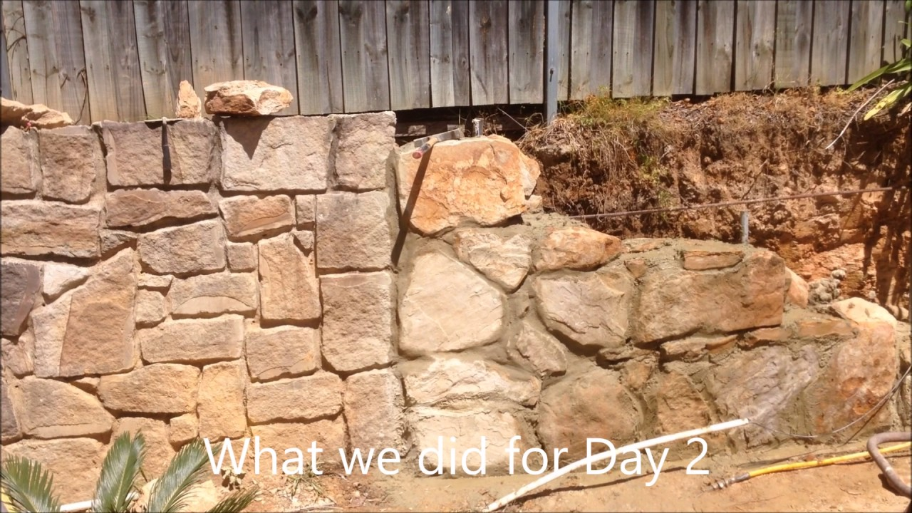 How To Build A Stone Retaining Wall Pt 1 You