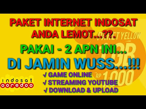 INTERNET INDOSAT LELET..?? PAKAI APN INI DI JAMIN SPEED WUSS.. | PAKET YELLOW / PAKET LAINNYA BISA..