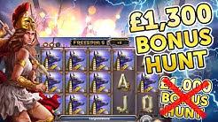 BIGGEST BONUS HUNT I'VE EVER DONE! £1,300 START !!