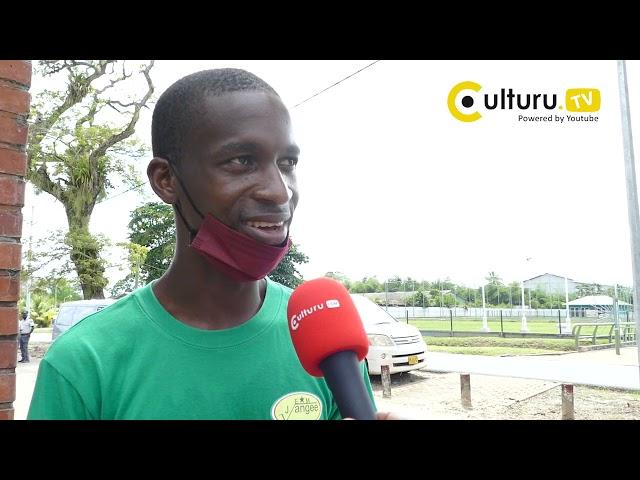 Surinamers in actie, protest tegen het ontslag van Dean Gorré