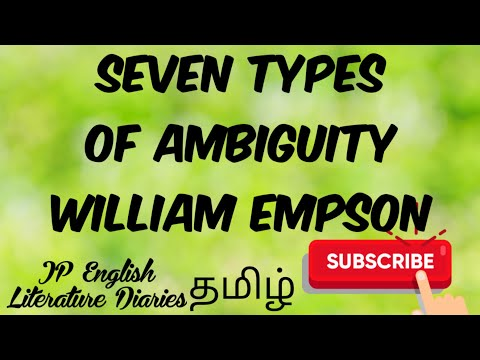 Seven Types Of Ambiguity In Tamil - William Empson - Summary