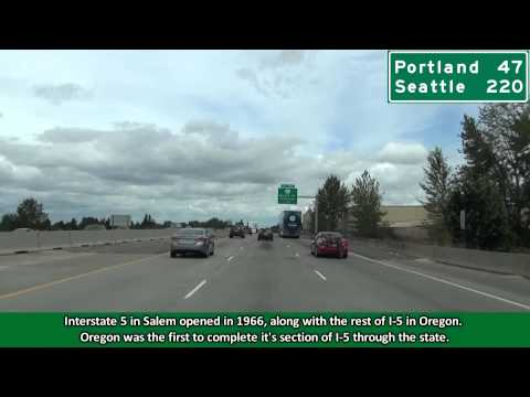 Interstate 5 North in Salem, Oregon