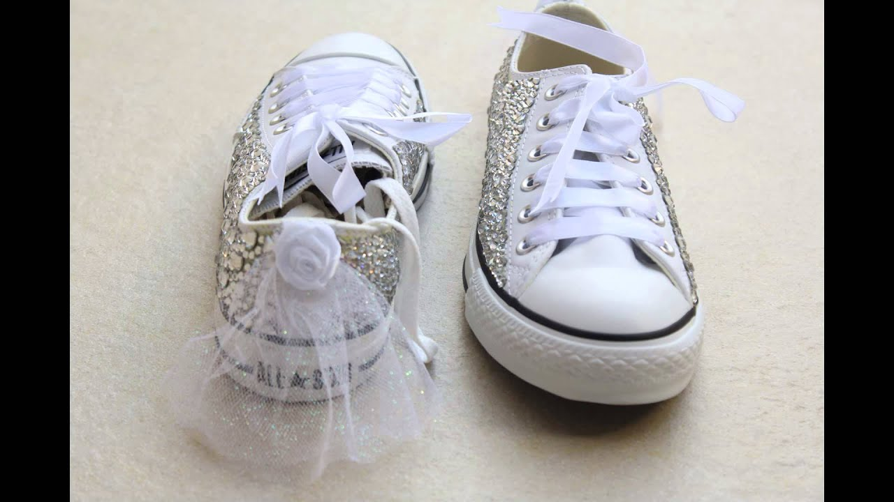 pinkposh converse bridal shoes youtube
