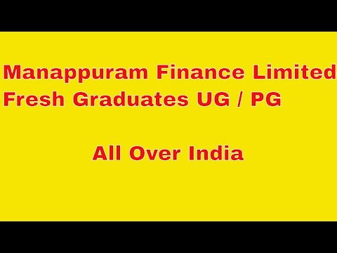 Vacancy In Manappuram Finance Limited