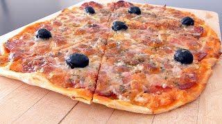 PIZZA DE SALAMI Y ANCHOAS
