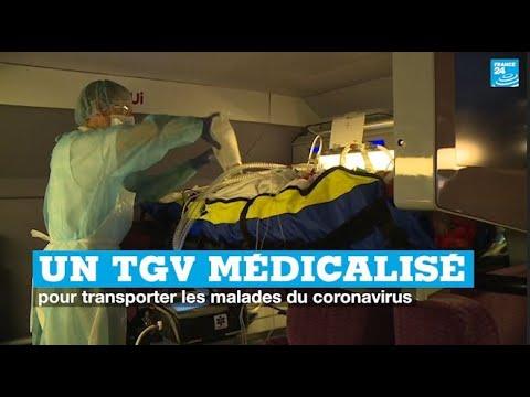 Coronavirus en France: Découvrez en IMAGES le TGV médicalisé pour transporter des malades