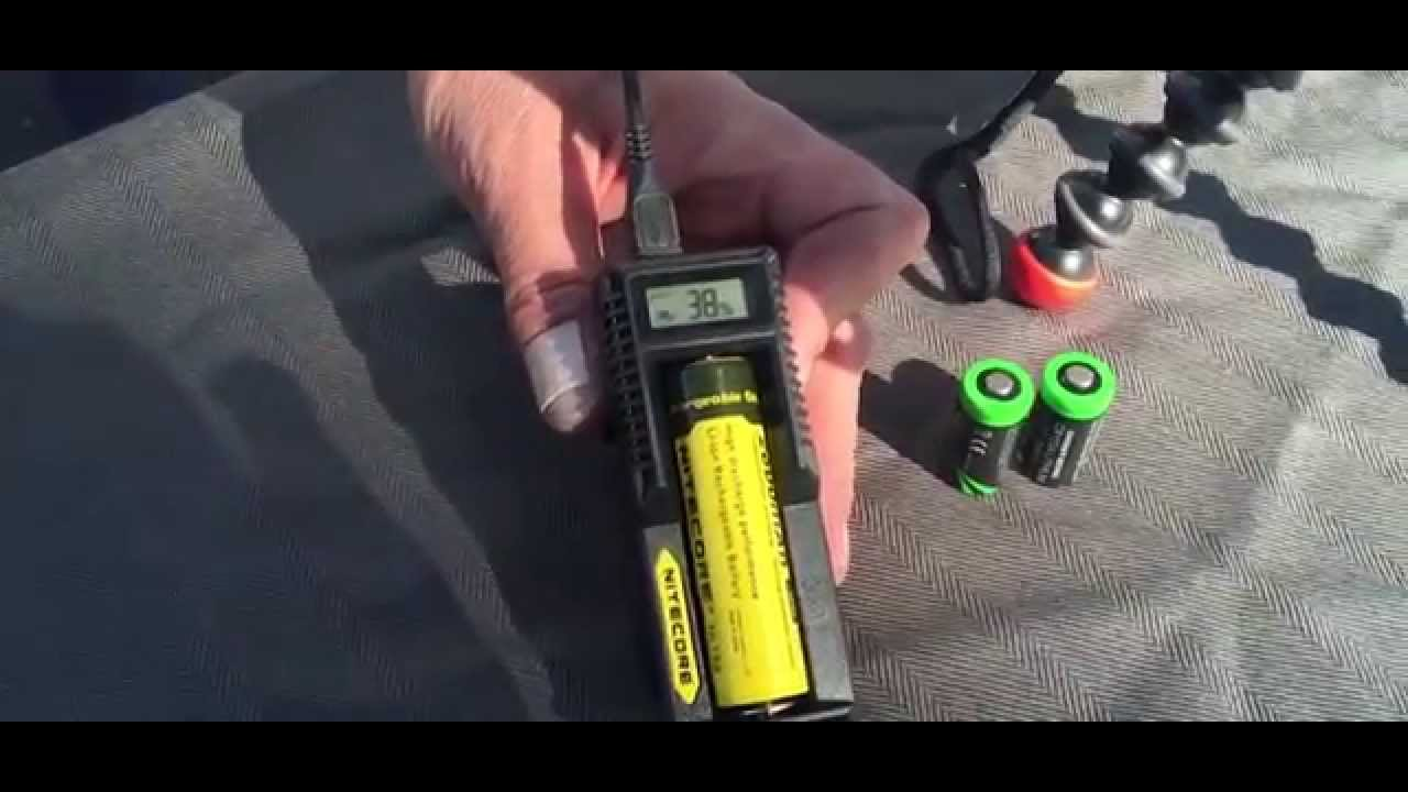 Solar Charge 18650 And Cr123 Batteries Nitecore Battery