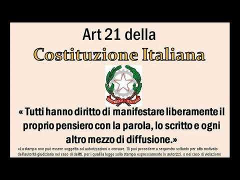 ARTICOLO 21 COSTITUZIONE - YouTube