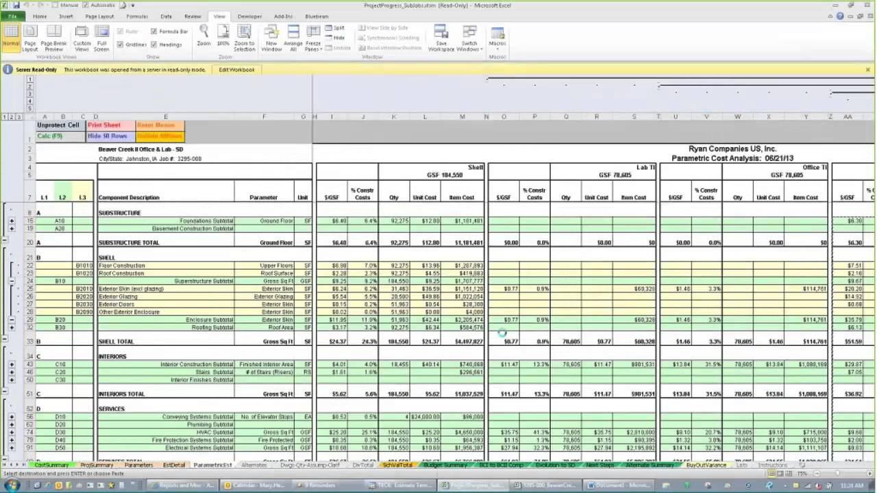 job estimate template free
