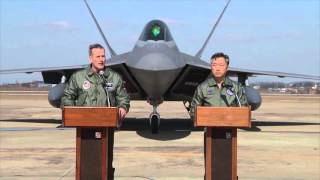 f 22 flyover show of force