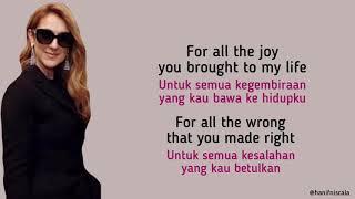 Download Celine Dion - Because You Loved Me | Lirik Terjemahan