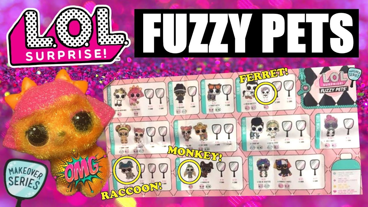 LOL SURPRISE FUZZY PETS MAKEOVER SERIES NEW #