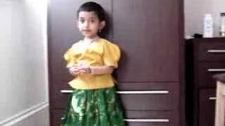 Sanskrit sloka by baby Sanjana