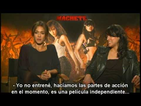 Jessica Alba y Michelle Rodríguez en entrevista de...
