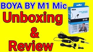 BOYA BY M1 Microphone Cheap & Best Mic For Youtubers With Smartphone And DSLR Camera Unboxing Review