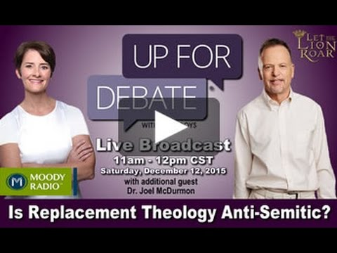 """Is Replacement Theology Anti-Semitic?"" - Derek Frank on Up For Debate Radio Show"