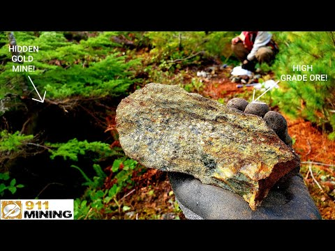 Finding An Abandoned Gold Mine, Massive Sulfide Pods & High Grade Mineral Deposits!