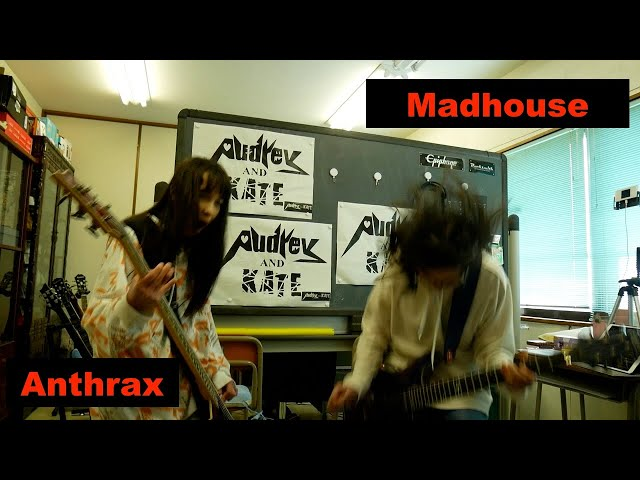 #Madhouse - #Anthrax - guitar + lefty bass - cover #アンスラックス