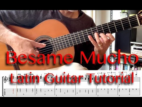 Latin Music Guitar Tutorial - Besame Mucho thumbnail