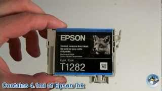 Inside Epson T1282 Cyan (Fox) Ink Cartridge(In this video we show you the inside of the popular Epson T1282 (C13T12824011) cyan ink cartridge. When new this ink cartridge has 4.1ml of ink inside it., 2013-01-04T16:40:28.000Z)