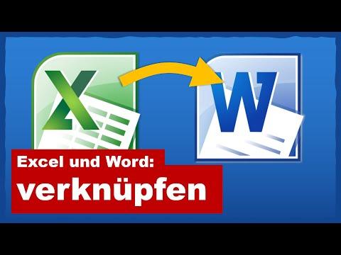 Excel Tabelle in Word verknüpfen