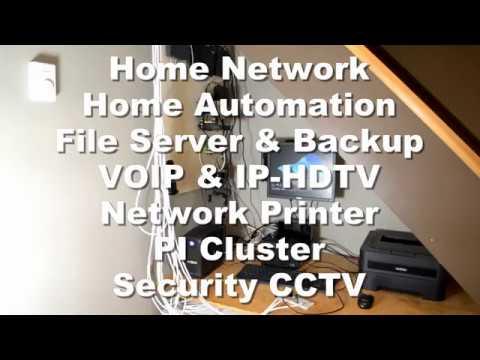 Home Automation, Network, Server & Backup, VOIP, IP-HDTV, Printer, PI Cluster, CCTV
