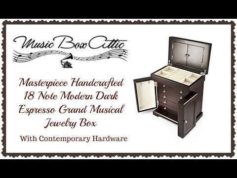 Masterpiece Handcrafted Grand Musical Jewelry Box - Install Custom Song / Logo