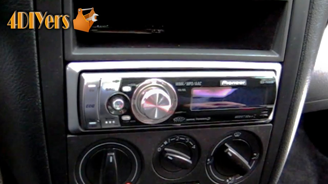 maxresdefault diy installing an aftermarket stereo into your vehicle youtube jetta mk4 wiring harness radio at nearapp.co