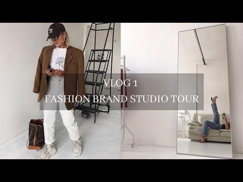 VLOG 1   MY FASHION BRAND STUDIO TOUR