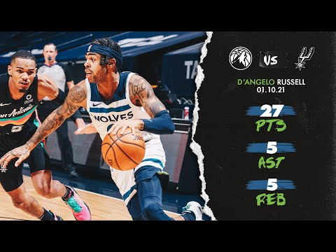 [HIGHLIGHTS] D'Angelo Russell - 27 pts, 5 ast, 5 reb versus San Antonio Spurs