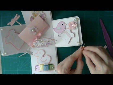 Exploding box birthday card - paper craft toutorial