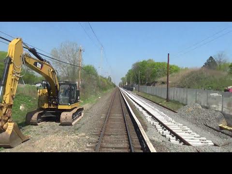 4K LIRR M3 Rear Window Ronkonkoma to Bethpage