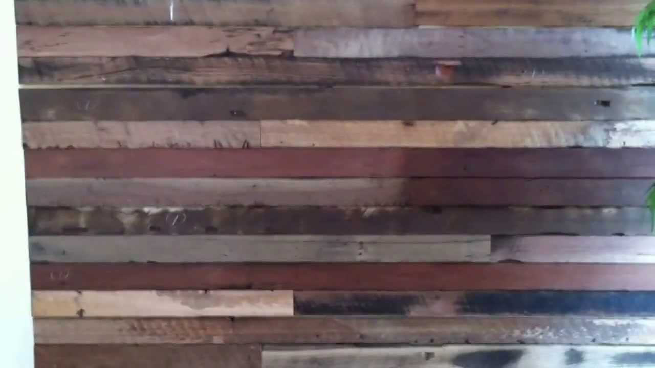 Wood Feature Wall recycled wood feature wall system - youtube