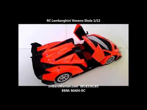 Jual Mainan Anak Mobil Remote RC Lamborghini Veneno Skala 1/12