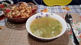 Суп с кабачком и рисом/постный рецепт