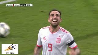 Gales 1-4 España - Amistoso internacional - Resumen y goles