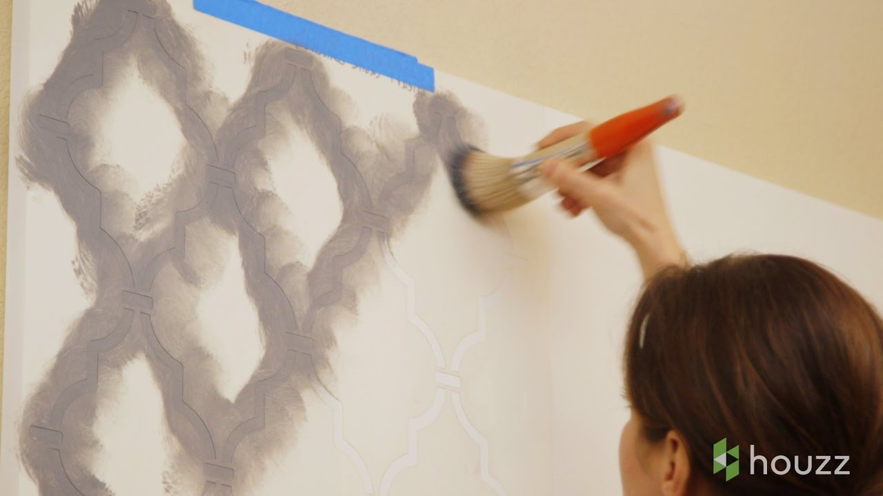 How to stencil a wall youtube how to stencil a wall amipublicfo Gallery