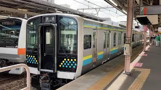 E131系試運転中野駅発車