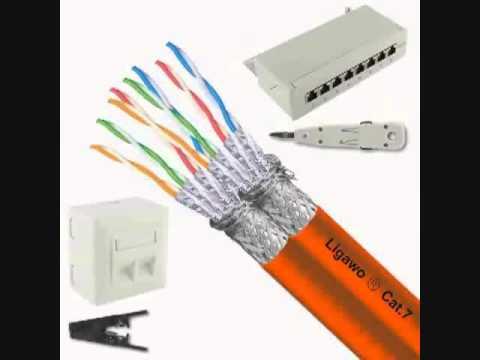 Cool Ligawo Netzwerk Set Cat 7 50m Duplex 8 Netzwerkdosen SnapIn  UB61