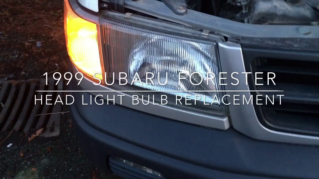 1999 Subaru Forester Head Light Bulb Replacement