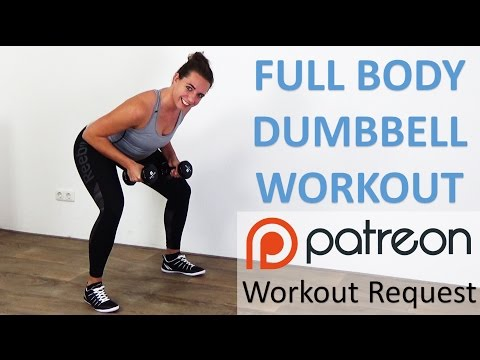 Full Body Dumbbell Workout – 10 Minute Weight Training with Dumbbells for Beginners