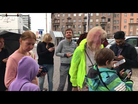Pokemon GO. Tyranitar RAID. Near Art Cube. Estonia. Tallinn 2017