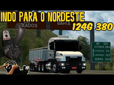 SCANIA 124g 380 NA CAÇAMBA - PRIMEIRA VEZ NO NORDESTE - LINHARES X EUNAPOLIS