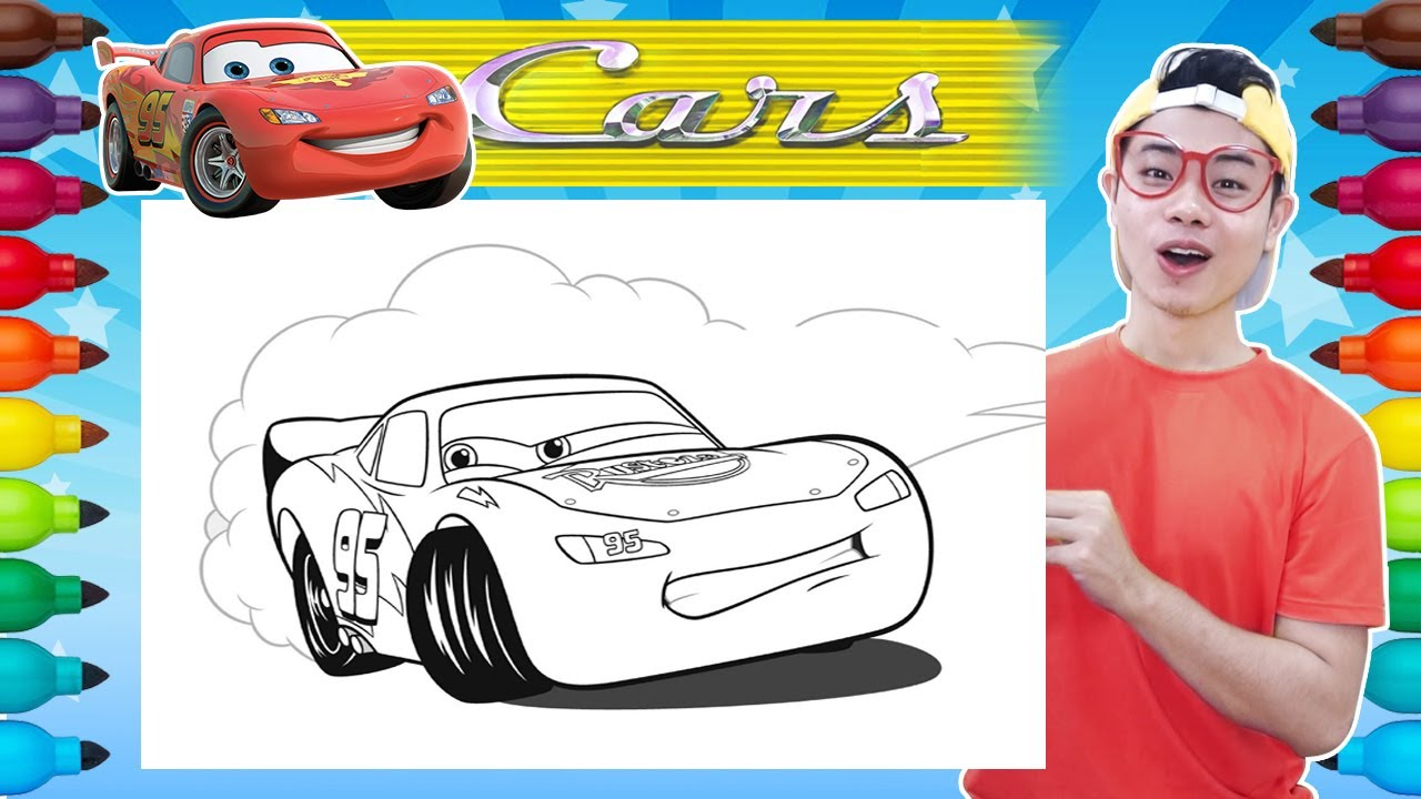 coloring cars 3 lightning mcqueen coloring book world of