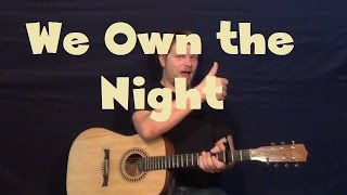 We Own The Night (The Wanted) Guitar Lesson Easy Strum Chord How to Play Tutorial Mp3