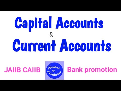 Difference between Capital account and Current account